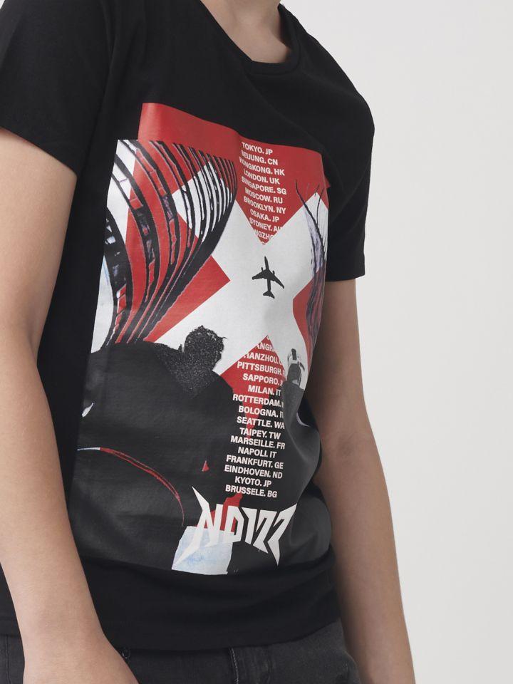 טישרט אופנה בשילוב הדפס תמונה