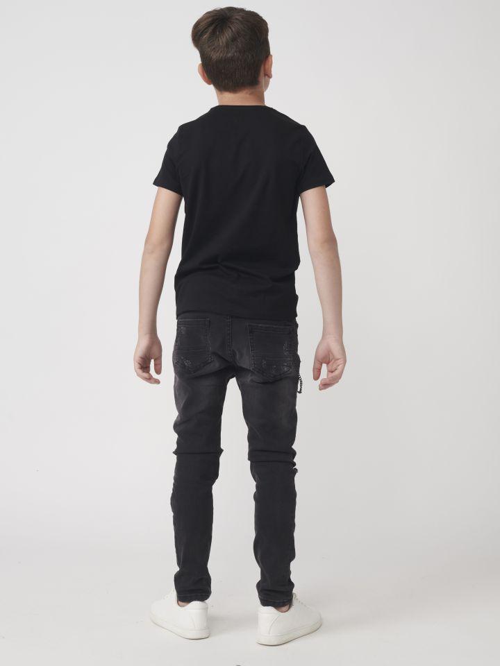 טישרט אופנה בשילוב הדפס כיתוב