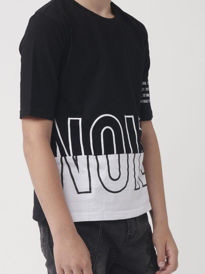 טישרט אופנה שחור לבן