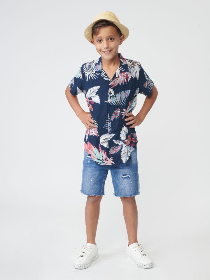 חולצה מכופתרת פרחונית
