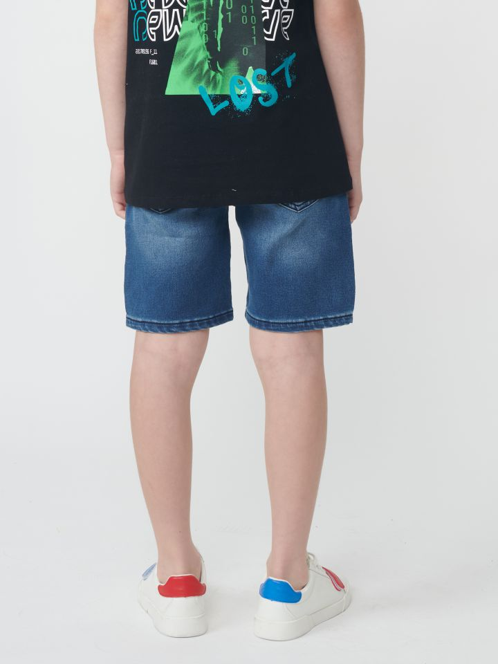 ברמודה ג`ינס עם חמישה כיסים