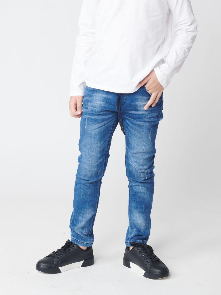 ג`וג` ג`ינס בשילוב שרוכי קשירה