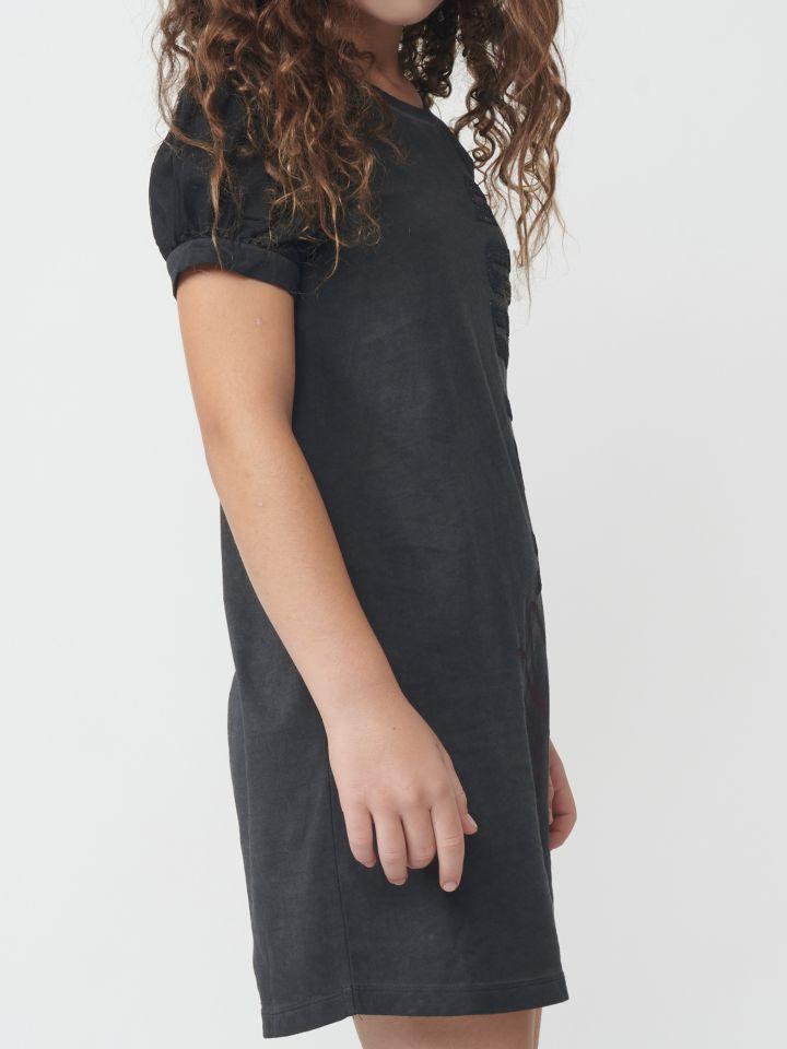 שמלת ג`רסי שטיפה ופייטים