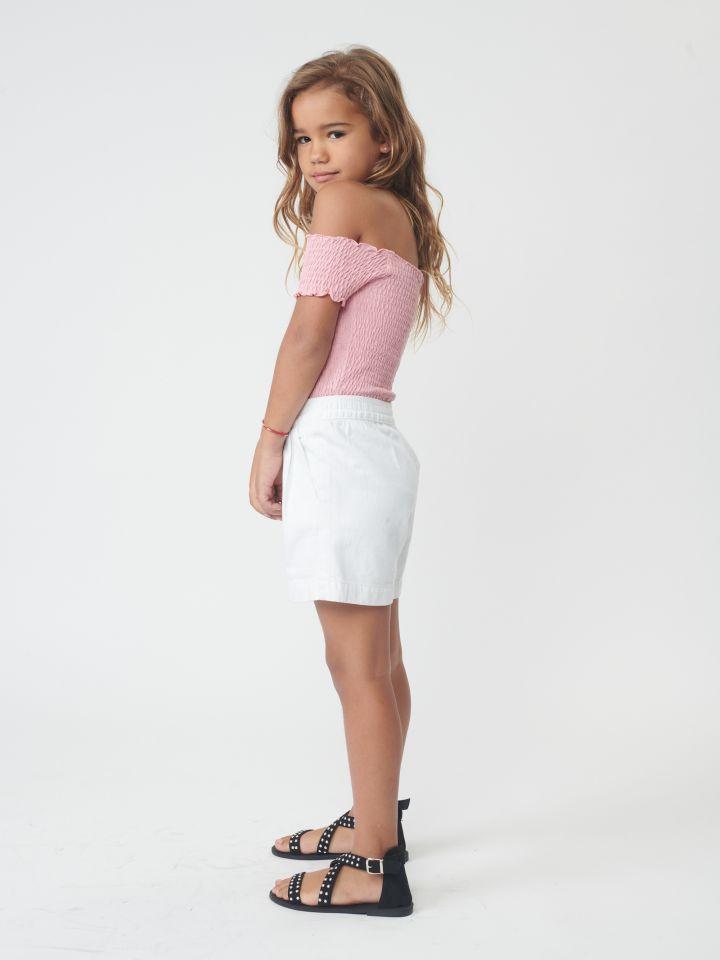 מכנס דריל קצר מתפרים