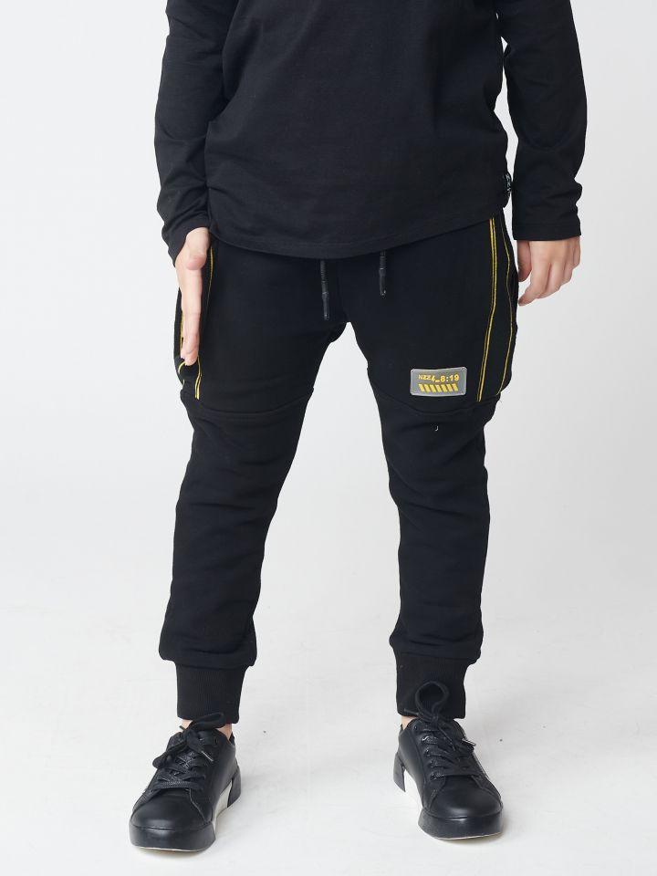 מכנסי פוטר פסי צד מובלטים