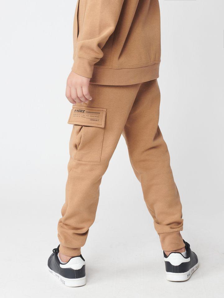 מכנסי פוטר כיס עם כיתוב