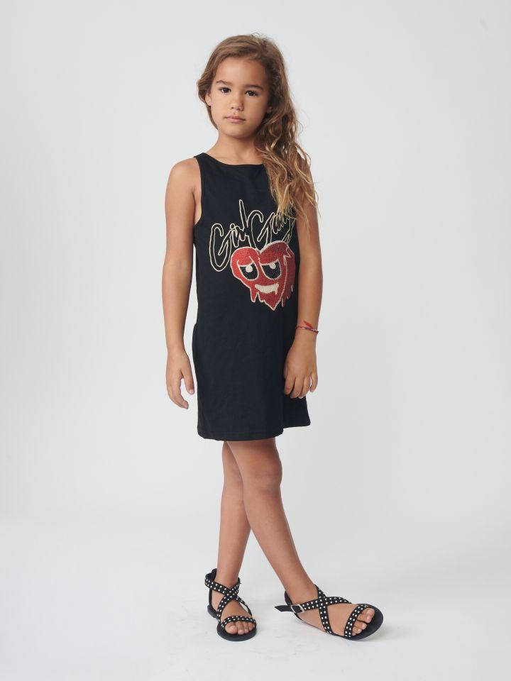 שמלה בשילוב הדפס תמונה