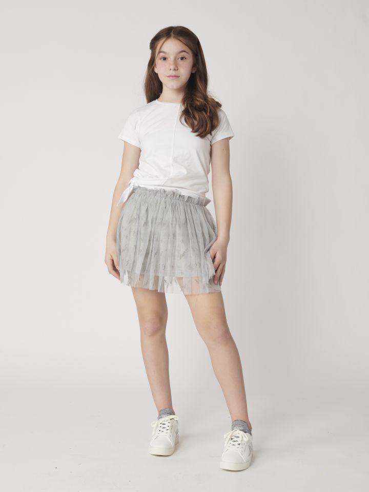 חצאית מיני בשילוב טול