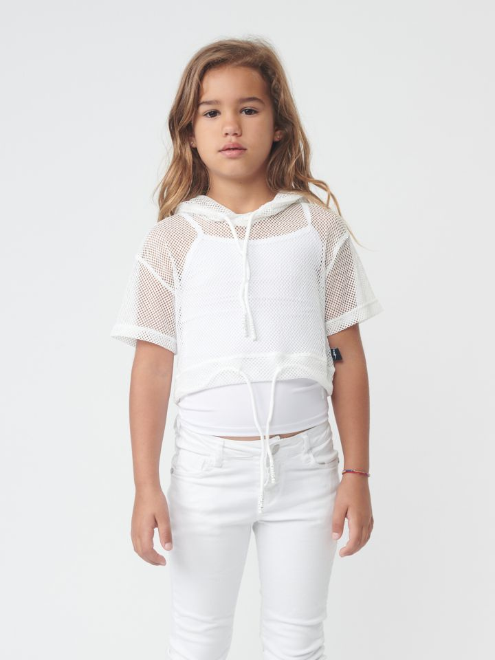 חולצת רשת עם שרוולים קצרים