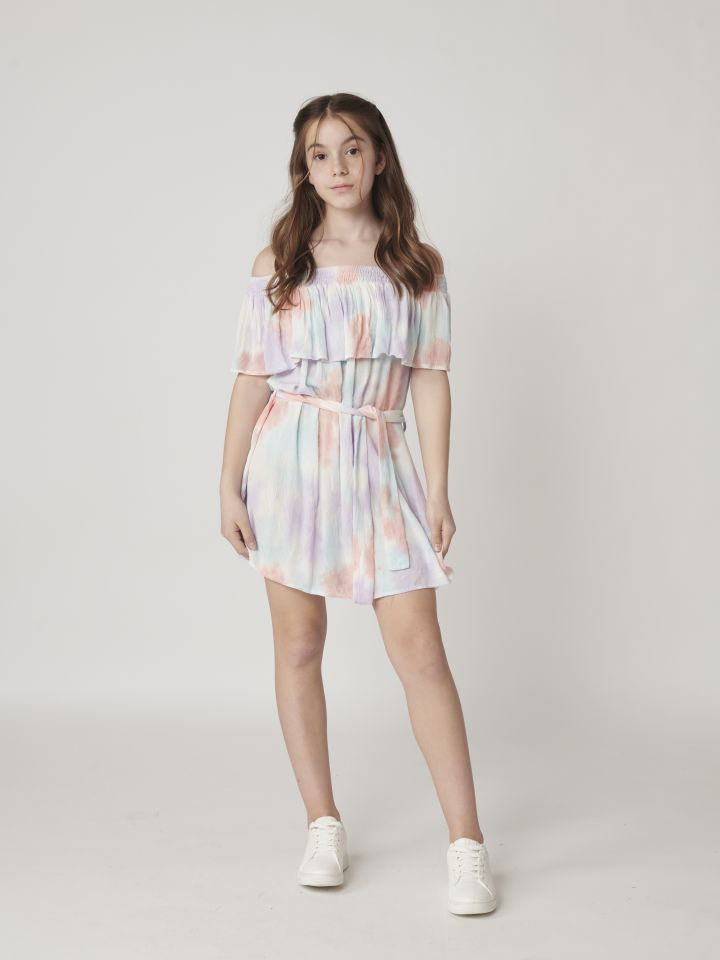 שמלת טאי דאי צבעוני