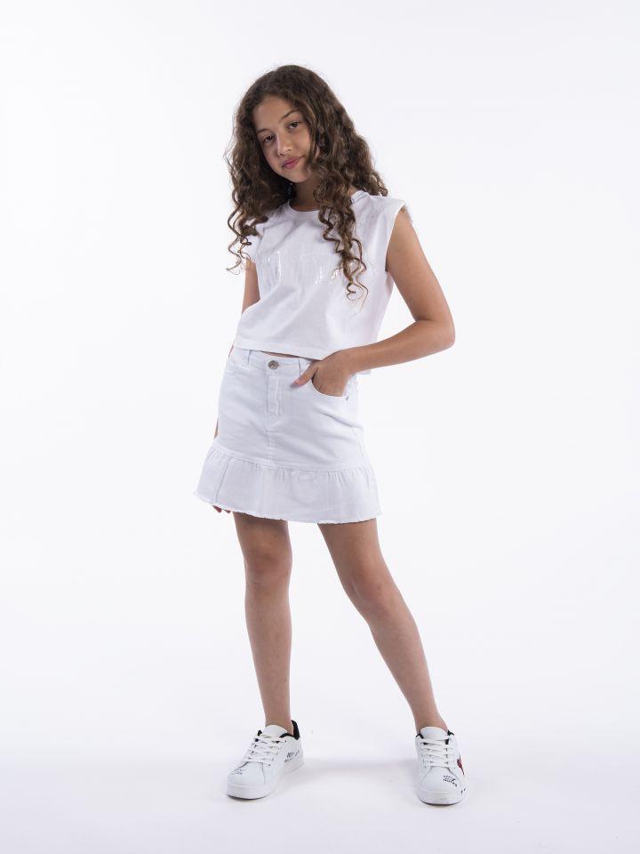 חצאית ג`ינס מלמלה