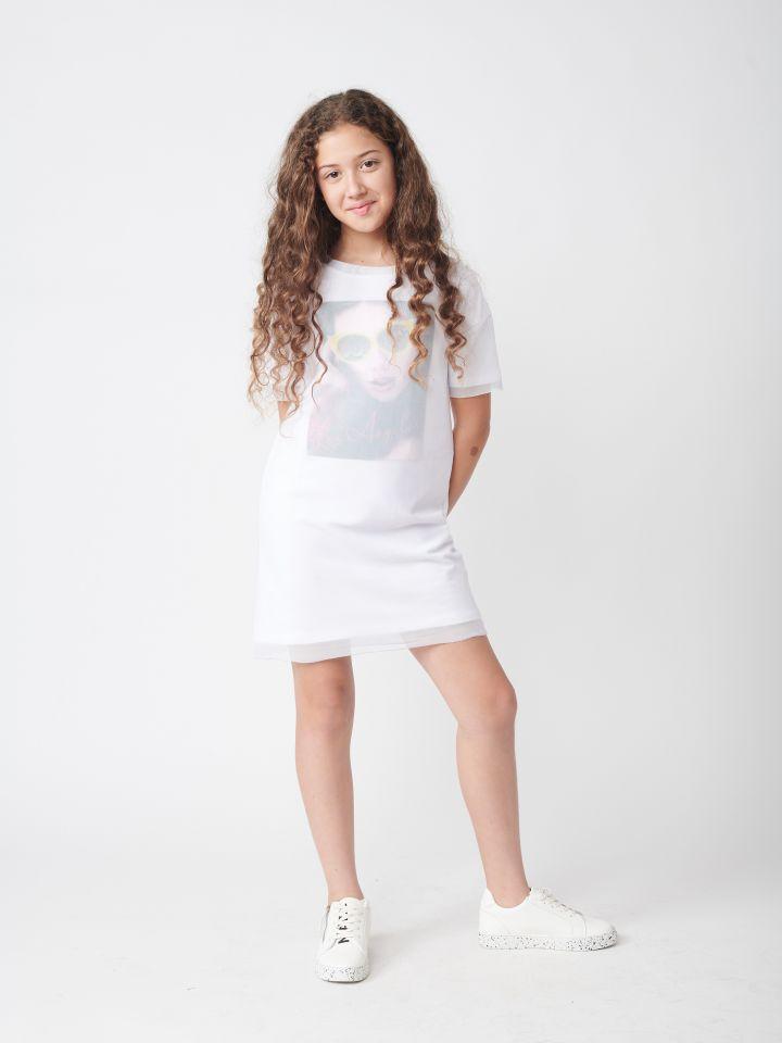 שמלה בשילוב טול