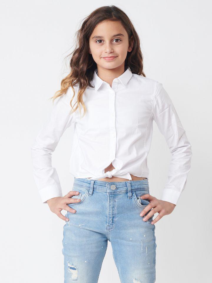 חולצת אריג קשירה קדמית